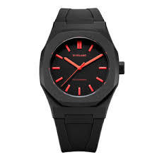 D1ミラノPCRJ06 Neon Watch Black with Red Index with rubber strap 腕時計 メンズ レディース 有名人 愛用D1 MILANO ディーワン ミラノ 代引き 手数料無料 ギフト プレゼント クリスマス 誕生日 記念日 贈り物 人気 おしゃれ ペア 祝い セール 結婚式 お呼ばれ