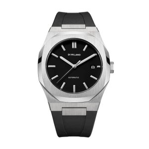 D1 MILANO ディーワンミラノ ATRJ01 P701 Automatic Watch Silver Case with Black Strap,腕時計 メンズ レディース 有名人愛用 代引き 手数料無料 ギフト プレゼント クリスマス 誕生日 記念日 贈り物 人気 おしゃれ ペア 祝い セール 結婚式 お呼ばれ
