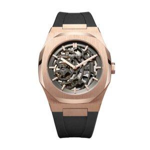 D1 MILANO ディーワンミラノ SKRJ03 P701 Automatic Skeleton Watch Rose Gold Case with Black Strap,,腕時計 メンズ レディース 有名人愛用 代引き 手数料無料 ギフト プレゼント クリスマス 誕生日 記念日 贈り物 人気 おしゃれ ペア 祝い セール 結婚式 お呼ばれ