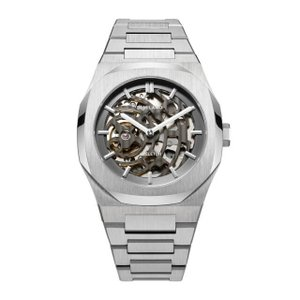 D1 MILANO ディーワンミラノ SKBJ01 P701 Automatic Skeleton Watch Silver Case with Silver Bracelet,,腕時計 メンズ レディース 有名人愛用 代引き 手数料無料 ギフト プレゼント クリスマス 誕生日 記念日 贈り物 人気 おしゃれ ペア 祝い セール 結婚式 お呼ばれ