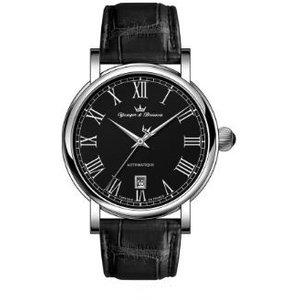 ヨンガー&ブレッソン YBH8567-01 メンズ腕時計Yonger&Bresson フランス 自動巻 送料無料 ブラック プレゼント 記念日 クリスマス 誕生日 贈り物 人気 お祝い ペア おしゃれ 結婚式 メンズ レディース