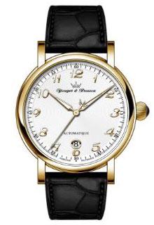 ヨンガー&ブレッソン YBH8570-03 メンズ腕時計Yonger&Bresson フランス 自動巻 送料無料 ホワイト×ブラック プレゼント 記念日 クリスマス 誕生日 贈り物 人気 お祝い ペア おしゃれ 結婚式 メンズ レディース