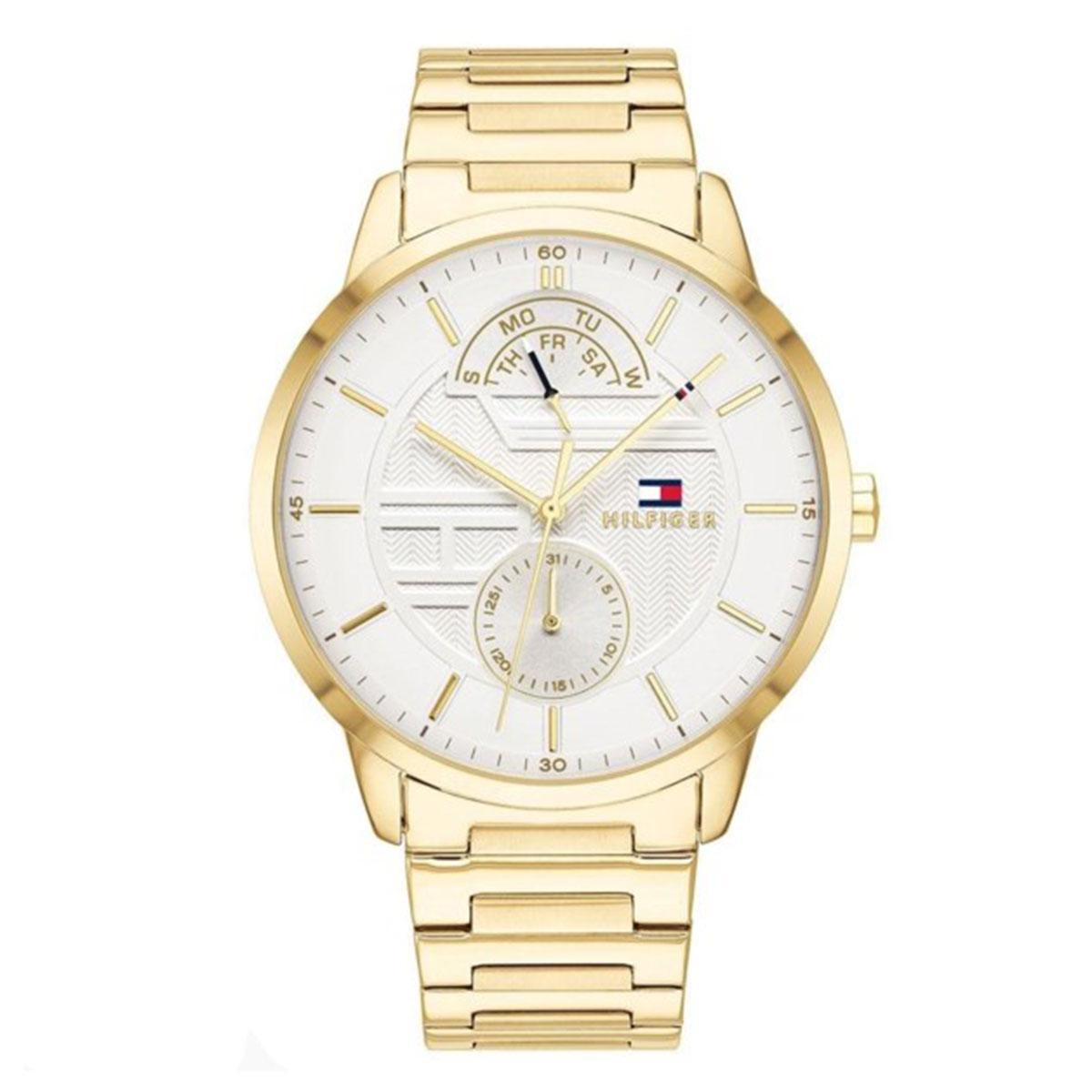 トミー ヒルフィガー Tommy Hilfiger 1791609 ステンレス ゴールド 並行輸入品 メンズ 腕時計 ウォッチ 送料無料 ギフト プレゼント クリスマス 誕生日 記念日 贈り物 人気 おしゃれ ペア 祝い セール 結婚式 メンズ レディース