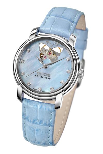 エポス epos 4314bohplbl レディース レザー ladies 腕時計 自動巻 送料無料  プレゼント 記念日 クリスマス 誕生日 贈り物 人気 お祝い ペア おしゃれ 結婚式 メンズ レディース