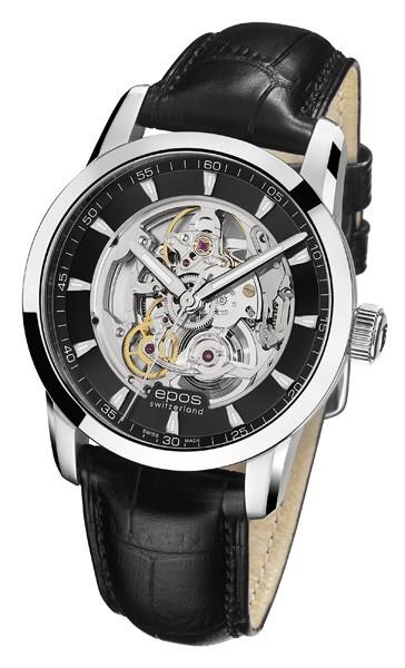 エポス epos 3423skbk  レザー メンズ sophistiquee 腕時計 自動巻 送料無料  プレゼント 記念日 クリスマス 誕生日 贈り物 人気 お祝い ペア おしゃれ 結婚式 メンズ レディース