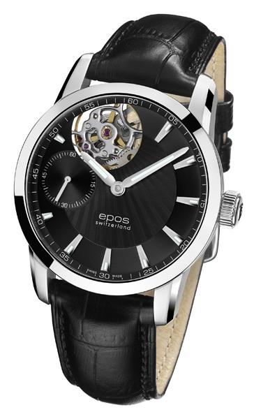エポス epos 3424ohbk レザー sophistiquee メンズ  腕時計 自動巻 送料無料  プレゼント 記念日 クリスマス 誕生日 贈り物 人気 お祝い ペア おしゃれ 結婚式 メンズ レディース