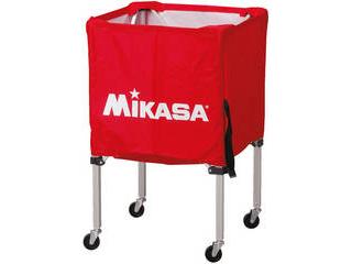 MIKASA/ミカサ 器具 ボールカゴ 箱型・小(フレーム・幕体・キャリーケース3点セット) レッド BCSPSS-R