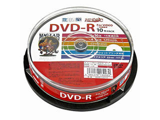 HIDISC 20個セット HIDISC CPRM対応 録画用DVD-R 16倍速対応 10枚 ワイド印刷対応 HDDR12JCP10X20