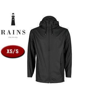 RAINS/レインズ ブレーカー レインジャケット 止水ファスナー 【XS/S】 (ブラック) 防水 撥水 レインコート 雨 雪 男女兼用 雨具 合羽