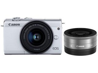 CANON/キヤノン EOS M200・ダブルレンズキット(ホワイト) ミラ-レスカメラ 3700C019