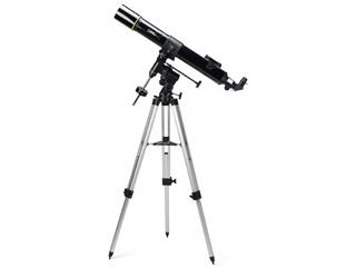 大口径かつ長い焦点距離の屈折式天体望遠鏡、ハンドル1本で追尾可能な赤道儀を搭載 【納期にお時間がかかります】 NATIONAL GEOGRAPHIC/ナショナルジオグラフィック 90-70000 屈折式天体望遠鏡