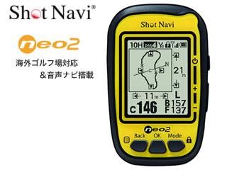 TECHTUIT/テクタイト NEO2-Y ShotNavi NEO2 (イエロー)【白黒液晶】【海外ゴルフ対応+音声ナビ搭載】