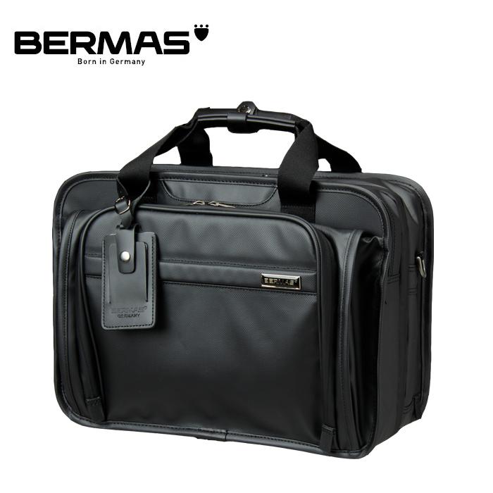 BERMAS/バーマス 60056 FUNCTION 42cm 2層EX PVCコーティング加工 撥水 ビジネスバッグ (ブラック)