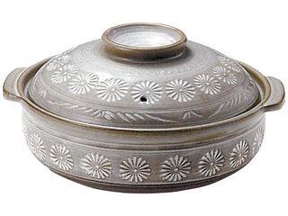 Ginpo/銀峯陶器 IH 土鍋 みしま(脱着式内面発熱金属プレート式)10号(261014)