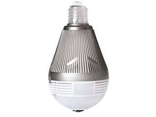 NINAITECH/ニナイテック i Bulb camera 電球型 フルHD360度 ネットワークカメラ 赤外線対応 BTNC-IP5MP