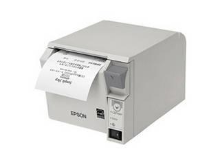 EPSON/エプソン 納期未定 サーマルレシートプリンター/80mm/USB・有線LAN/前面操作/クールホワイト TM702UE231