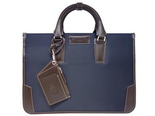 PID/ピー・アイ・ディー 25643 メンズ ドビー織 2層式ビジネスバッグ (ネイビー)