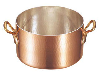 MAUVIEL/ムヴィエール 銅 半寸胴鍋(蓋無)2151-01 28cm