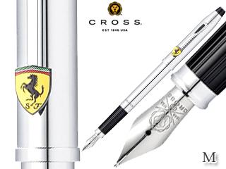 CROSS/クロス 万年筆■センチュリー フォー スクーデリア・フェラーリ【ポリッシュトクローム/M】ステンレスペン先