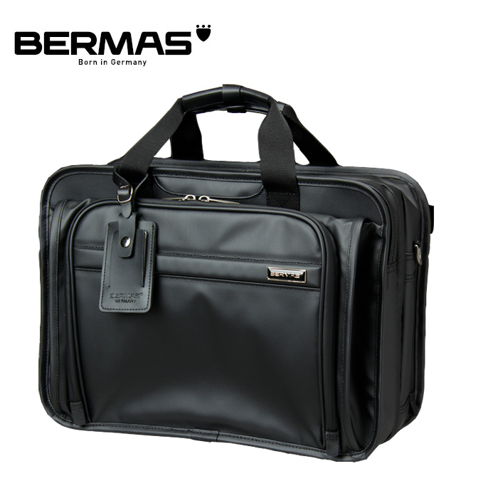BERMAS/バーマス 60057 FUNCTION 45cm 2層EX PVCコーティング加工 撥水 ビジネスバッグ(ブラック)