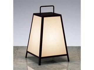 ENDO/遠藤照明 ERF2007B 和風照明 スタンド レザー仕上(黒)【電球色】ランプ付