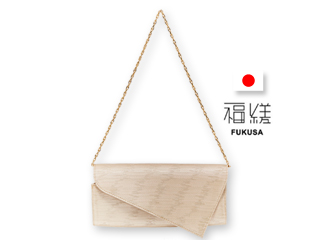 福縒/ふくさ ショルダークラッチ■日本製/牛革&金襴バッグ【KASURE-カスレ-】FS-003-2