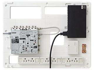 サン電子 COM-K1000H 情報分電盤(ブースタ有り、LANスイッチ1台) 【COM-Hシリーズ】