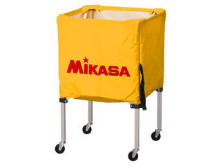 MIKASA/ミカサ 器具 ボールカゴ 箱型・小(フレーム・幕体・キャリーケース3点セット) イエロー BCSPSS-Y
