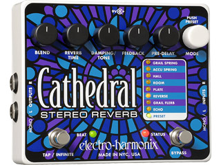 【nightsale】 electro harmonix/エレクトロハーモニクス Cathedral ステレオリバーブ エフェクター 【国内正規品】