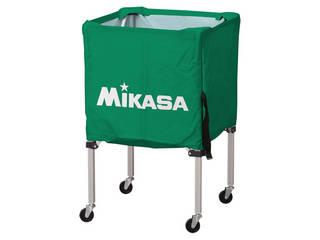 MIKASA/ミカサ 器具 ボールカゴ 箱型・小(フレーム・幕体・キャリーケース3点セット) グリーン BCSPSS-G
