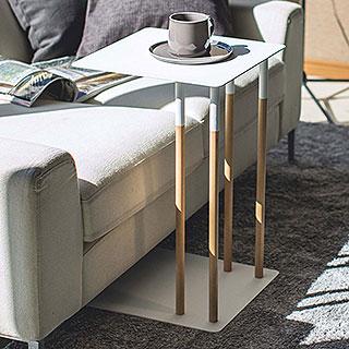 YAMAZAKI/山崎実業 差し込みサイドテーブル プレーン ホワイト