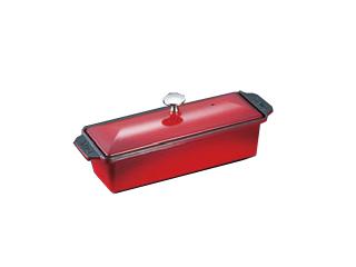 ※海外製造品の為、本体の持ち手部分がブラックの場合とレッドの場合がございます。 staub/ストウブ 長角テリーヌ 30 チェリー 40509-787