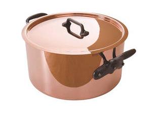 純銅製半寸胴鍋28cm蓋付