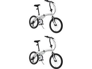 低価格の WACHSEN【代引不可商品】ヴァクセン BA101×2 2台組 20型アルミ折りたたみ自転車 2台組 ホワイト ホワイト BA101×2, 雑貨ショップぽけっと:67c14e63 --- konecti.dominiotemporario.com