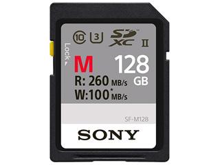 SONY/ソニー 4K対応 SDXC UHS-IIメモリーカード 128GB UHSスピードクラス3 Class10 SF-M128