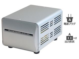 カシムラ NTI-4 海外国内用大型変圧器 100V/110-130V/1000VA