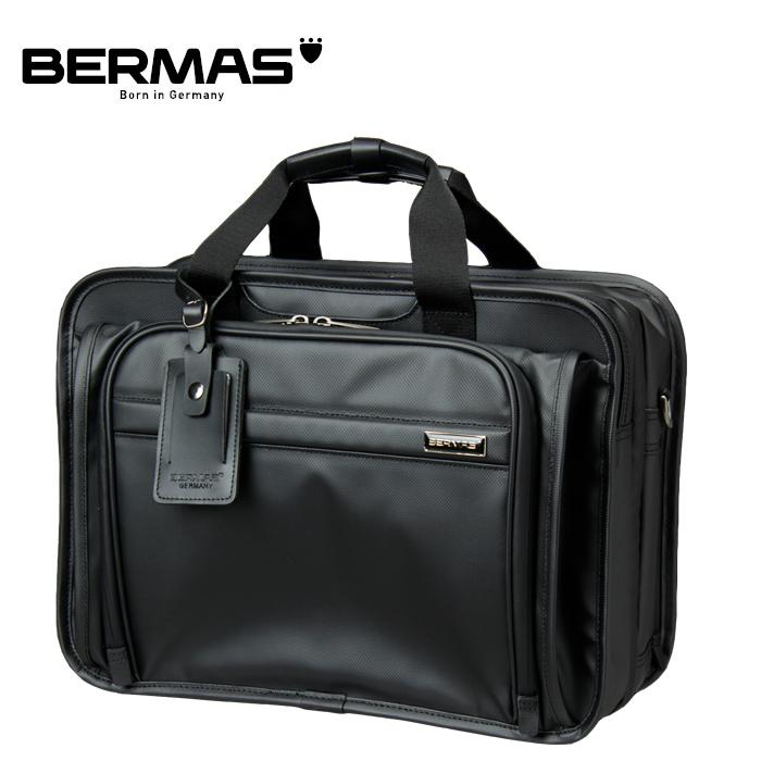 BERMAS/バーマス 60059 FUNCTION 3WAY PVCコーティング加工 撥水 ブリーフ ビジネスバッグ (ブラック)
