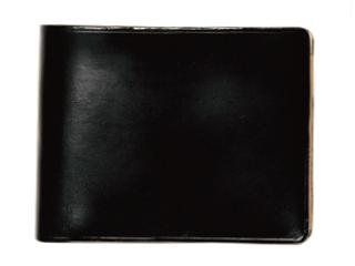 Il Bussetto/イルブセット Wallet【ブラック】 二つ折り財布 (コインケース付)