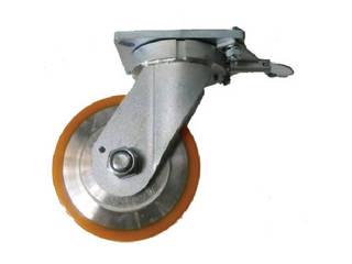 YODONO/ヨドノ 超重量用高硬度ウレタン自在車旋回ロック付 1500kg用 HDUJ150TL