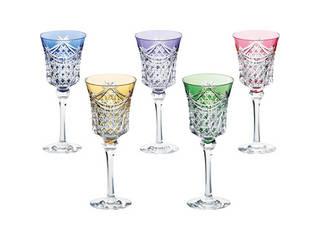 KAGAMI KAGAMI 江戸切子 ワイングラス5客セット  KS3602-2835-5