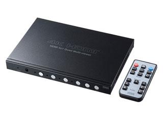 サンワサプライ 4入力1出力HDMI画面分割切替器(4K対応) SW-UHD41MTV
