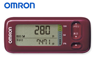 【nightsale】 OMRON HJA-405T-R 活動量計 カロリスキャン (レッド)
