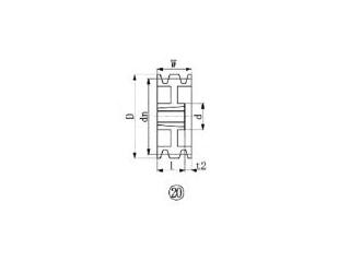 EVER-ON/エバオン ブッシングプーリー SPB 250mm 溝数3 SPB250-3