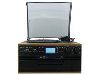PIF/ピーアイエフ RTC-29 レコード/CD/ラジオ&カセット搭載多機能プレーヤー 【DEAR LIFE】