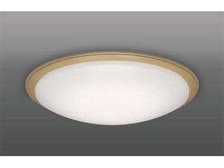 TAKIZUMI/タキズミ GX12087 LEDシーリングライト アクリルカバー木製枠オーク色 【~12畳】※リモコン付