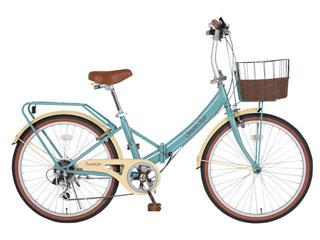 シンプルスタイル シンプルスタイル 24型 低床フレーム折りたたみ自転車  SS-LD246RBS+PB-R8