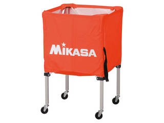 MIKASA/ミカサ 器具 ボールカゴ 箱型・小(フレーム・幕体・キャリーケース3点セット) オレンジ BCSPSS-OR