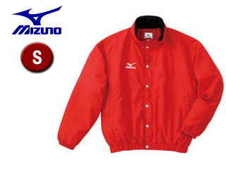 mizuno/ミズノ A60JF962-62 フード収納式 中綿ウォーマーキルトシャツ (レッド) 【Sサイズ】