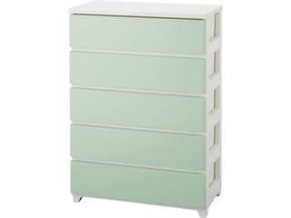 カラースタイルチェストワイド5段ホワイトグリーン ホワイトグリーン C-STYLE-W5WHGR