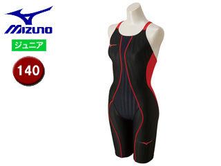 mizuno/ミズノ N2MG8430-96 FX-SONIC ハーフスーツ ジュニア 【140】 (ブラック×レッド)